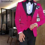 Price: MVR2974.50 Gwenhwyfar Male Wedding Dress Hot Pink Men's suits Tailored Suit Blazer Suits For Men Peaked Lapel 3 pieces (Jacket+Pants+Vest) Free Shipping - Estimated Delivery 20-40 days