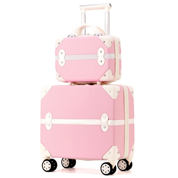 Code: T733158 Travel suitcase set Rolling Luggage Trolley case Travel Bag  18inch boarding Suitcase Spinner luggage Wheels Women Cosmetic Case