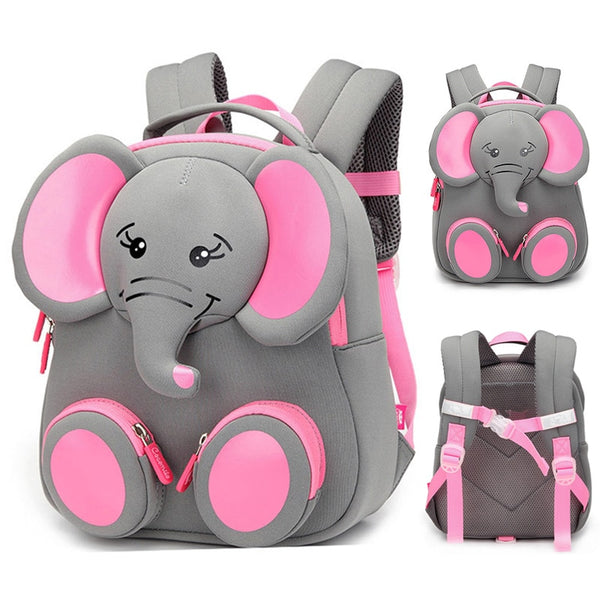 Code: S765332 2019 New Fashion Children School Bags for Girls Boy 3D Elephant Design Student School Backpack Kids Bag Mochila Escolar