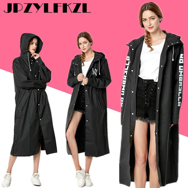 Code: R7445251 EVA Women Raincoat Rainwear Men Rain Coat Impermeable Capa de Chuva Chubasquero Poncho Japan Waterproof Rain Cape Cover Hooded Free Shipping Delivery 15-40 days