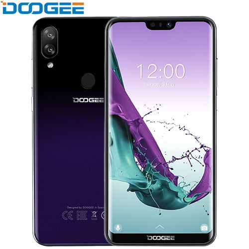 Code: M5822514 DOOGEE N10 mobile Phone Octa-Core 3GB RAM 32GB ROM 5.84inch FHD+ 19:9 Display 16.0MP Front Camera 3360mAh Android 8.1 4GLTE 2019 Free Shipping USD142.67