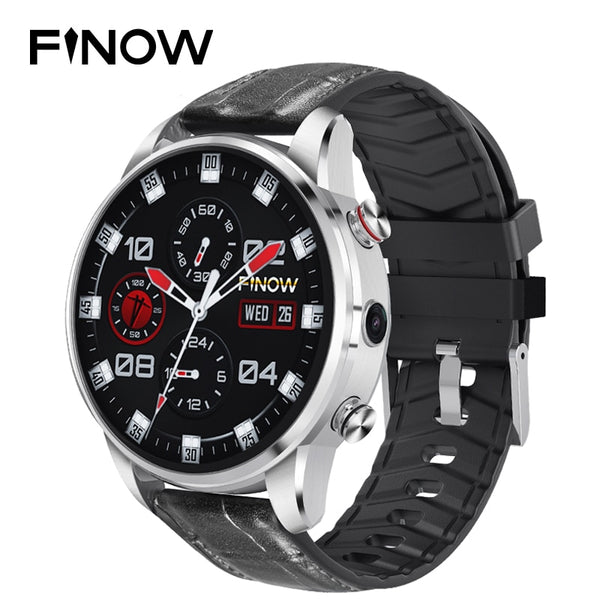Code: W85774 Finow X7 Smart watch 4G Round Android Watch Phone MTK6739 Quad Core Smart Watches Men 1.39 Inch AMOLED  relogio inteligente Free shipping Delivery 20-45 days
