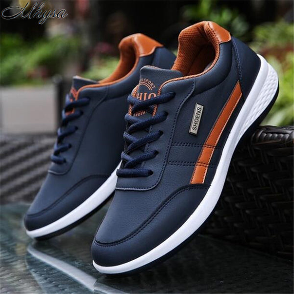 Code: S366525 Mhysa 2019 The new spring and autumn sports shoes lightweight men's fashion casual shoes lace slip outdoor climbing shoes L130