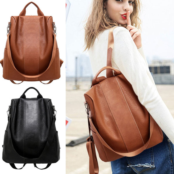 Code: H362225 Stylish Travel Women Backpack Fashion PU Leather Zipper Lady Schoolbag Anti Theft Camping Casual Tote Soft Free Shipping 10-20 days to USA via ePacket USD24.85