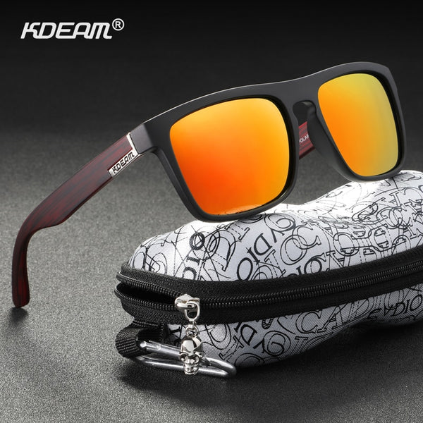 KDEAM High Fashion Polarized Sunglasses For Men and Women UV-Block Night Driving Glasses Photochromic lentes de sol mujer