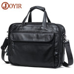 "Code: H585527 JOYIR Men Briefcases Genuine Leather Handbag 15""Laptop Briefcase Messenger Shoulder Crossbody Bag Men's Bag Business Portfolio"