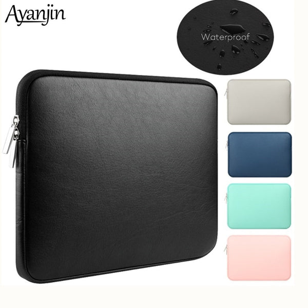 Code: L9866475 Soft PU Leather for Macbook Air 13 Pro Retina 11 12 14 inch notebooks laptop case 13.3 15 touch bar Waterproof pouch sleeve bag