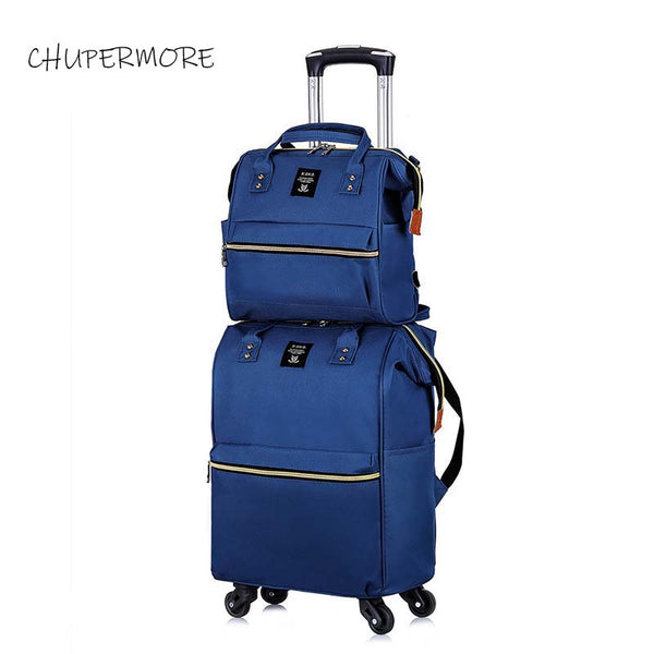 Chupermore Ultralight Oxford Rolling Luggage Set Spinner Women Brand Suitcase Wheels 20 inch Carry On Trolley