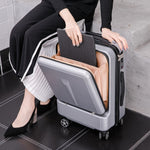 "Code: L445552 Travel tale Can board front computer bag High quality business 20""  24""Rolling Luggage Spinner brand Travel Suitcase Free Shipping Delivery 20-40 days"