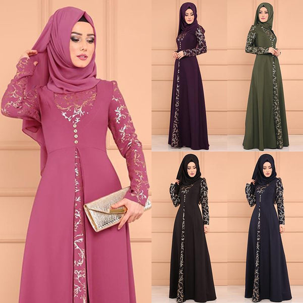Code: A8755962 2019 new arrival elegent fashion style muslim women plus size long abaya S-5XL USD30.41 Free Shipping