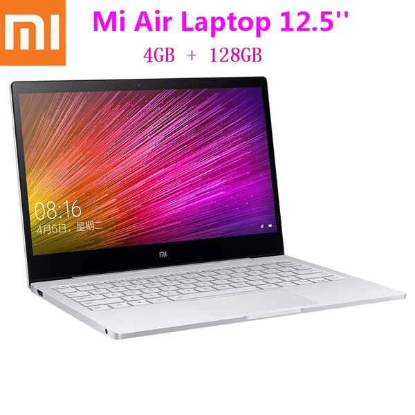 Code: L785425 Xiaomi Mi Air Laptop 12.5 Inch Ultra Thin Windows 10 Intel Core M3 - 8100Y 4GB 128GB Backlit Keyboard HDMI Fast Charger Notebook
