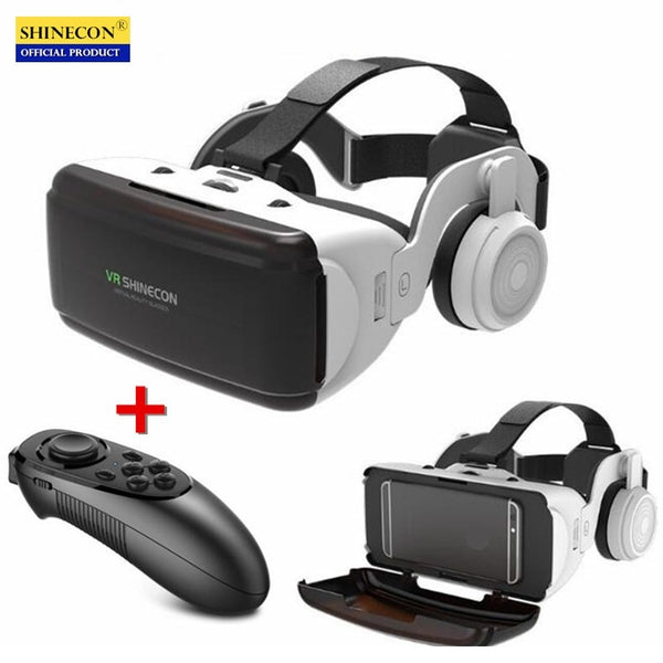 Code: E8665541 Original VR Virtual Reality 3D Glasses Box Stereo VR Google Cardboard Headset Helmet for IOS Android Smartphone,Bluetooth Rocker