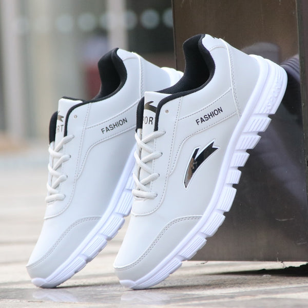 Code: S24485 Men's leather shoes qiu dong waterproof running shoes super soft bottom shoes men leisure tourism low tide shoes help