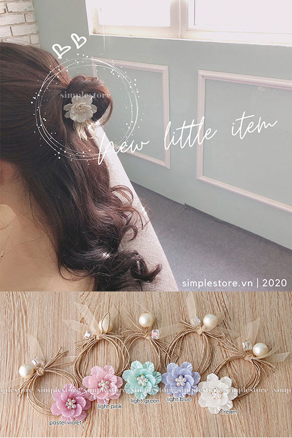 C22148 - Dây buộc Pastel Fritta flower Korea version Ponytail - Simple Store