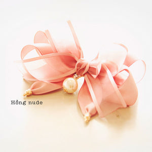 E16034 - Cặp bấm Daily Shine Ribbon Hairpin - Simple Store