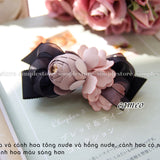 E22056 - [New Mood] Cặp bấm Cecily Black Ribbon Hairpin