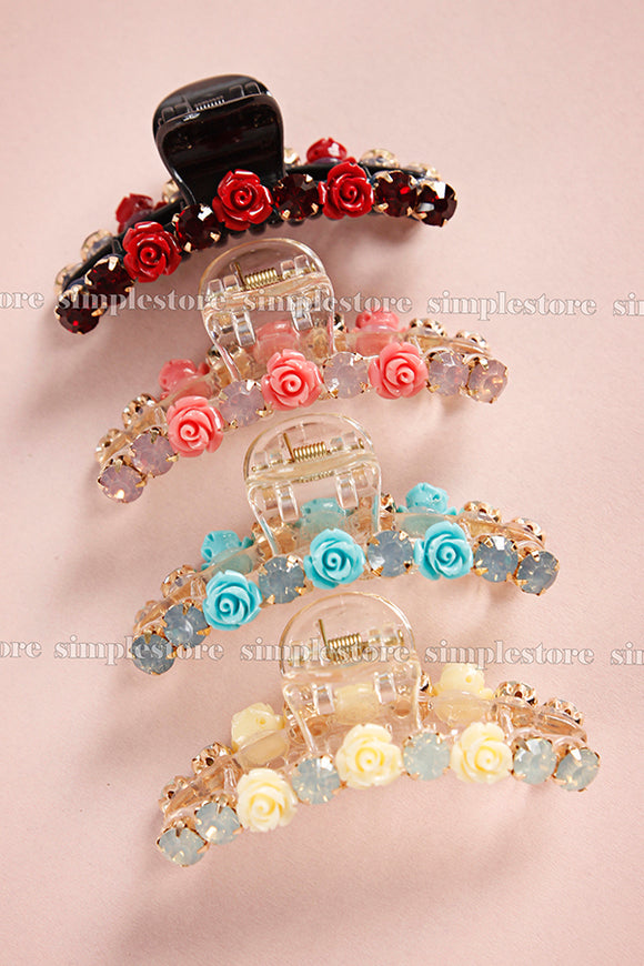 T22104 - Cặp dọc Ava Tiny flower Tongs pin