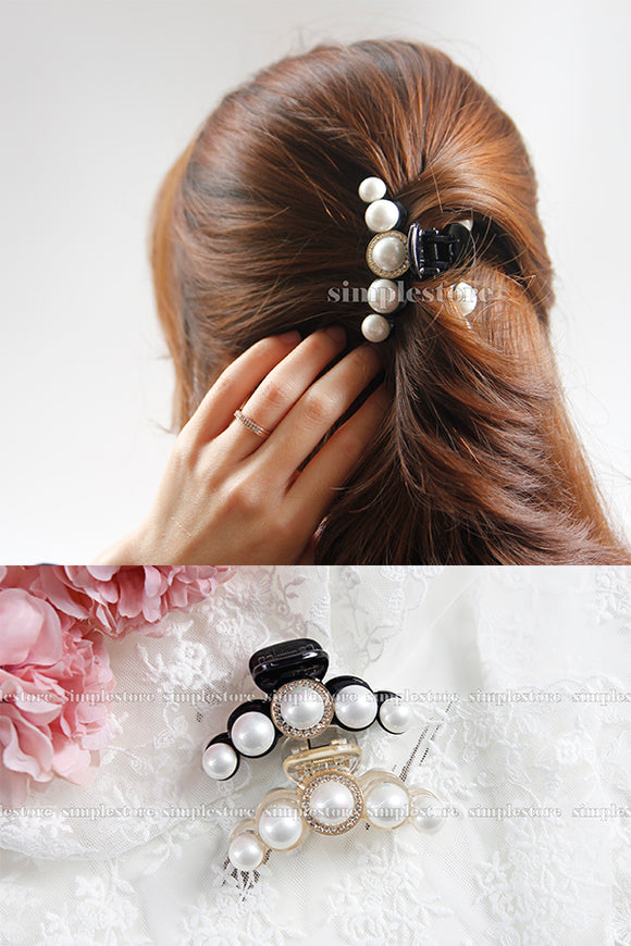 T22105 - [New Mood] Cặp dọc Rummy pearl Tongs pin