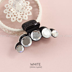 T22109 - [In black] Cặp dọc Shine crystal Tongs pin
