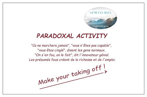 Paradoxical activity card