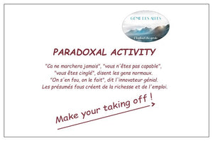 Paradoxical Activity Card Genie Des Alpes