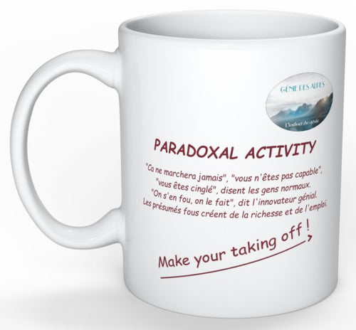 Paradoxical activity mug