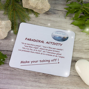 Paradoxical activity mouse pad