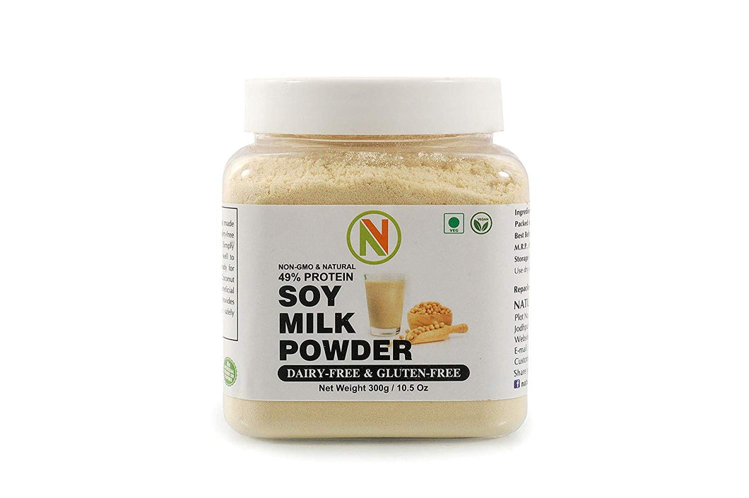 NatureVit Soy Milk Powder [Vegan, Non-GMO & 49% Protein] - Nature Vit