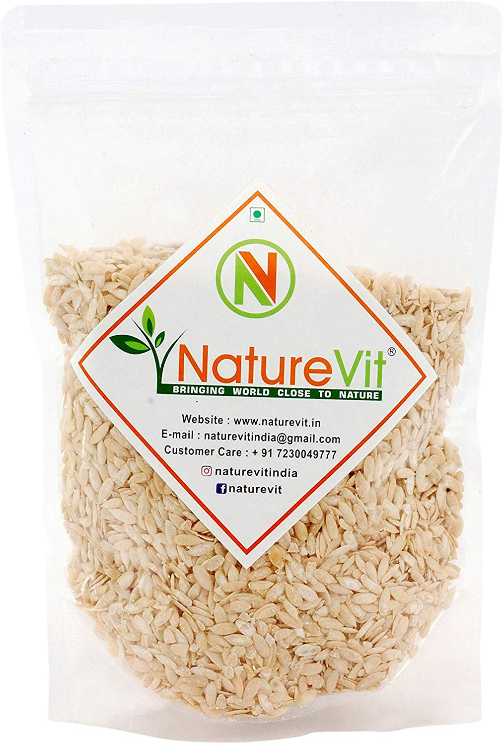 NatureVit Muskmelon Seeds for Eating [Kharbooj Magaj] - Nature Vit