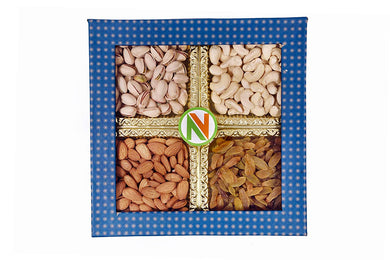 NatureVit Dry Fruits Gift Pack, 400gms [Cashew, Almonds, Pistachios & Raisins]