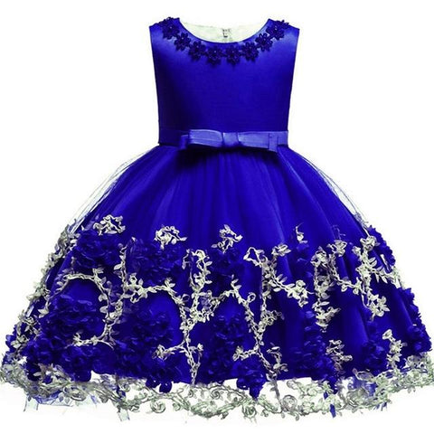 Kids Flower Design Dress