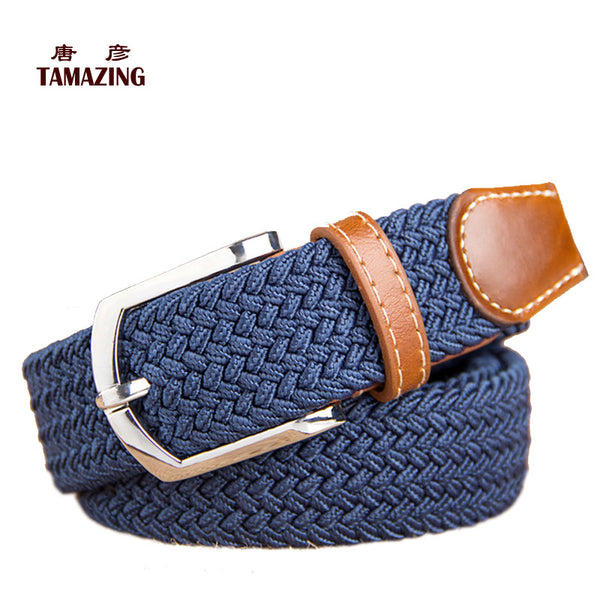 Women's Knitted  Canvas Belt