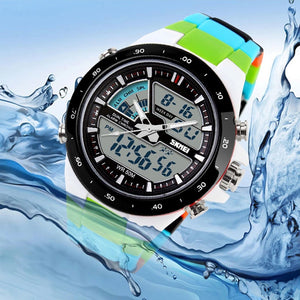 "Men""s  Dive  Sports    Digital  Military Type  Multifunctional Wristwatch"