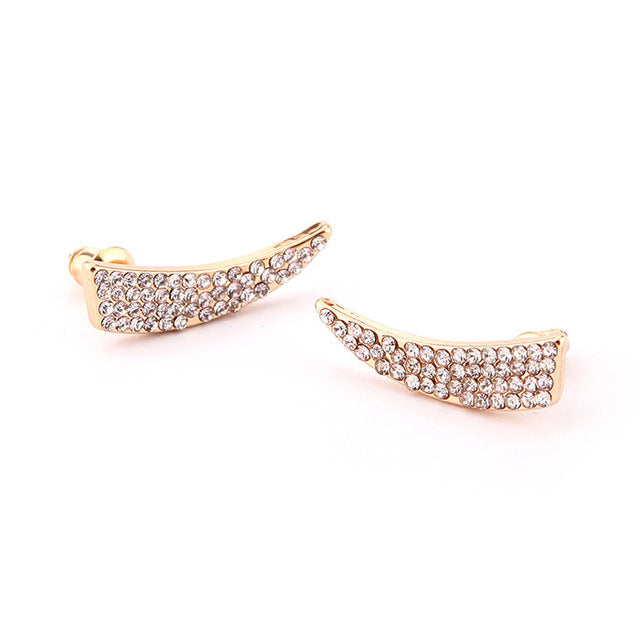Crystal Stud Earring knife Shape