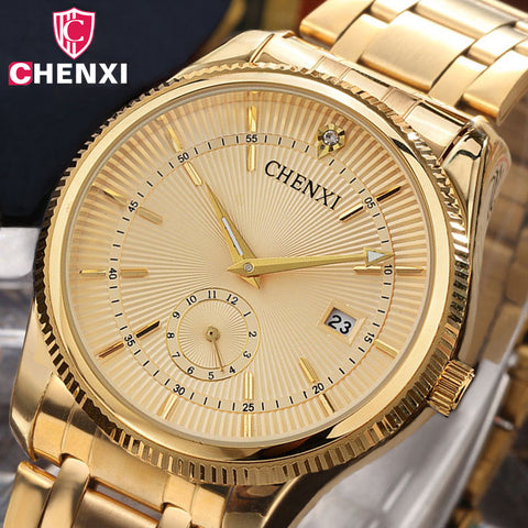 Men's  Luxury  Business  Quartz    Gold  Watch
