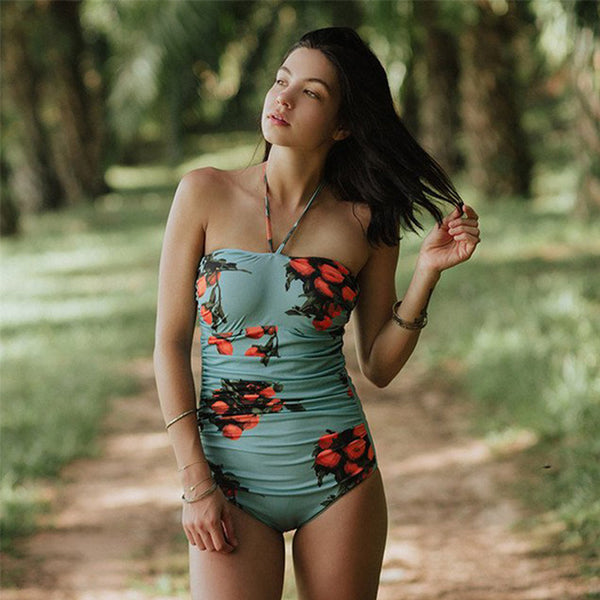 Sexy One Piece  Women Printed Swimsuit