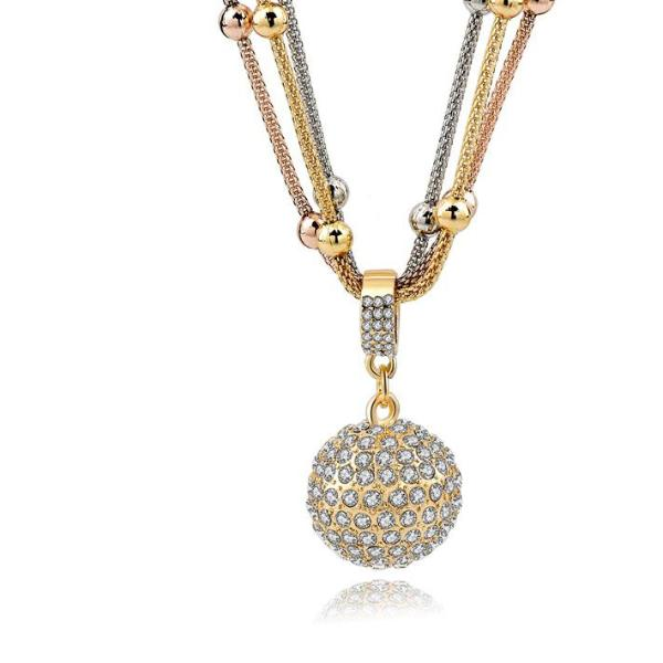 Women's gold color chain necklace
