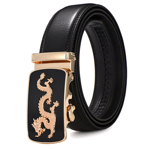 Men's  leather dragon belt
