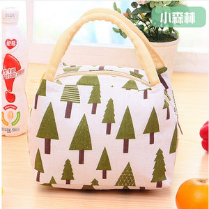 Insulated , portable  Canvas Lunch Bag