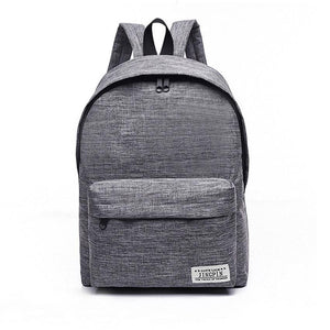 Functional  Student Canvas Backpack