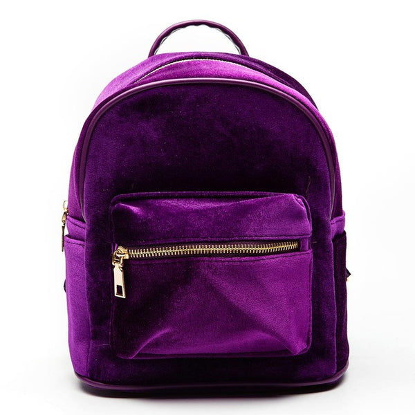Women's velvet backpacks