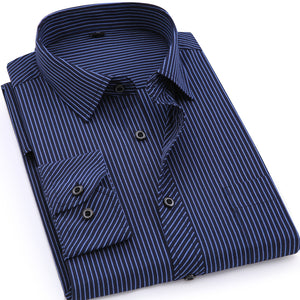 Plus Size Men's business Long Sleeve Shirt