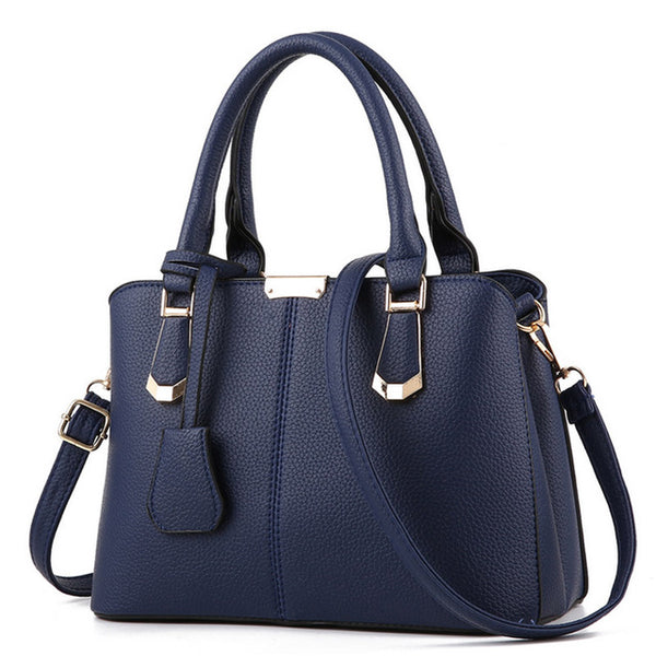 Ladies  PU Leather  Large Capacity  Shoulder Bag
