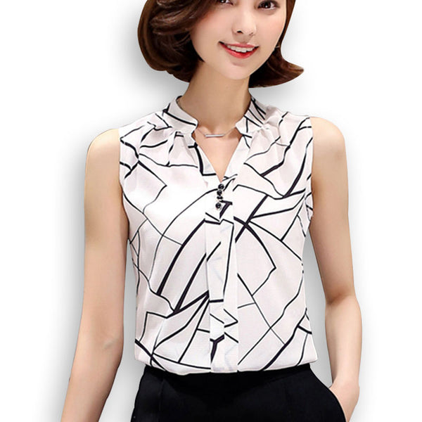 Women chiffon   printed  blouse