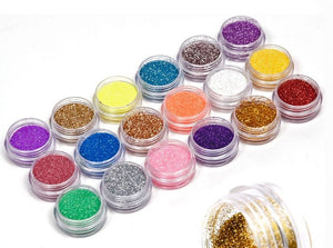 18 Colors/set Nail Art acrylic Glitter Powder Dust