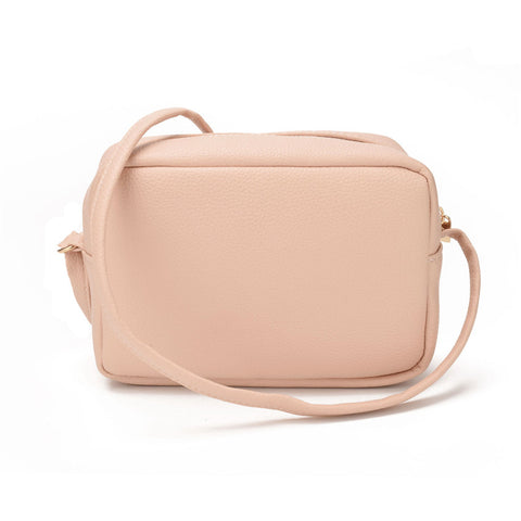 Versatile small  sling shoulder leather handbag