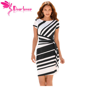 Lovely  Striped  Pencil Dress