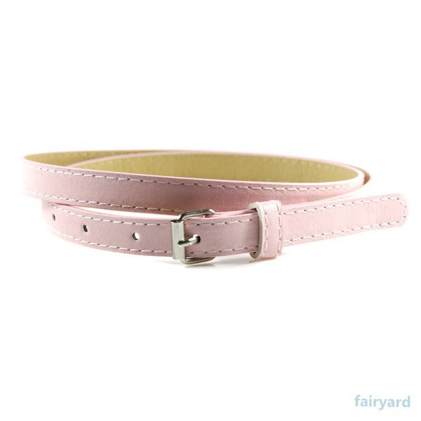 Multi Color , thin Skinny leather Ladies Casual  waistband