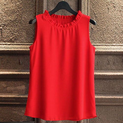 Sleeveless  Chemise Ladies blouse