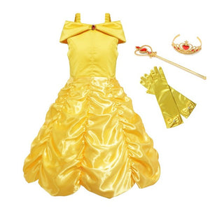 Sleeveless  Child Costume Party Dress , Set